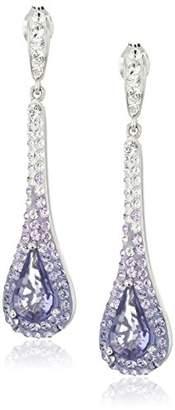 Swarovski Sterling Silver Tear Drop Earrings with Elements