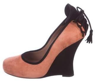 Tabitha Simmons Wedge Round-Toe Wedges