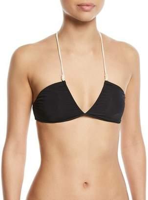 Vix Julie Brigitte V-Neck Rope-Halter Swim Top