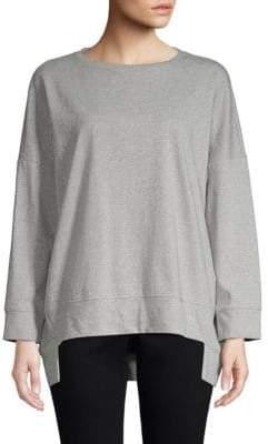Eileen Fisher Inverted Step Hem Sweatshirt