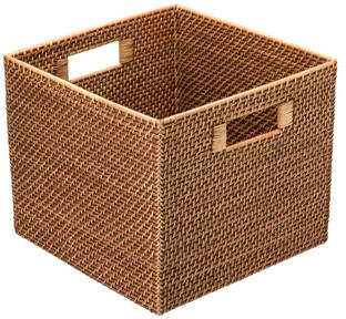 Rosecliff Heights Square Rattan Storage Basket