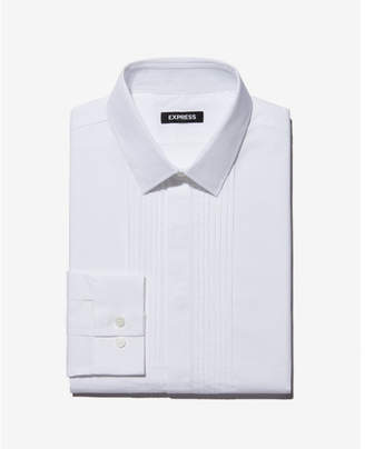 Express classic fit pleated tuxedo dress shirt