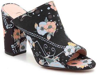 AVEC LES FILLES Margaux Sandal -Black/Multicolor Floral - Women's