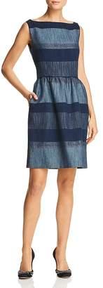 Paule Ka Striped Denim Dress