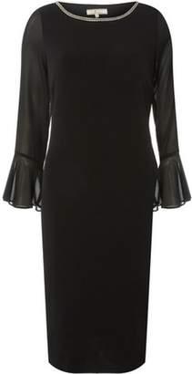 Dorothy Perkins Womens **Billie & Blossom Tall Black Embellished Shift Dress