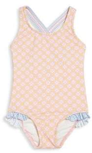 Heidi Klein Little Girl's & Girl's One-Piece Cross-Back Swimsuit