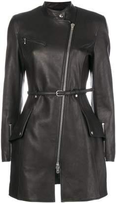 Alexander Wang zipped fitted biker coat