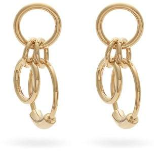 Chloé Interlinked Hoop Earrings - Womens - Gold