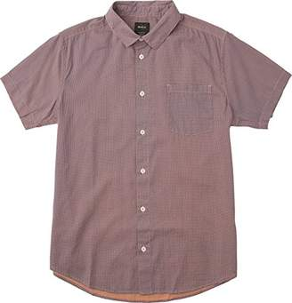 RVCA Men's No Name Short Sleeve Woven Shirt