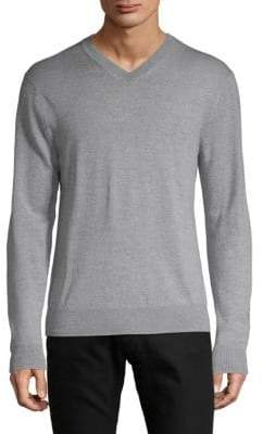 Saks Fifth Avenue V-Neck Merino Wool Sweater