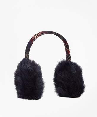 Wool and Shearling Tartan Earmuffs $168 thestylecure.com