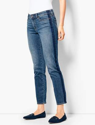 Talbots Slim Ankle Jean - Shadow Stripe