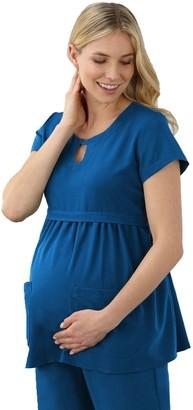 Jockey Maternity Scrubs Empire Waist Top