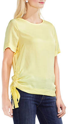 Vince Camuto Round Neck Rumpled Blouse