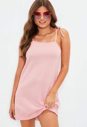 Missguided Pink Tie Strap SlipShift Dress