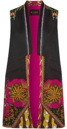 Etro Satin-Trimmed Printed Faille Vest