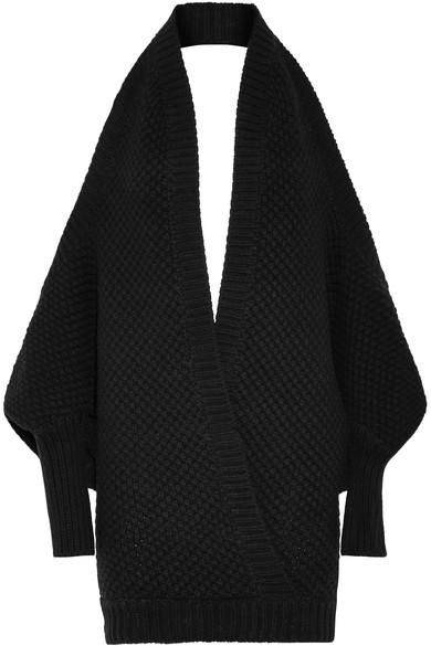 ChalayanChalayan - Open-back Merino Wool And Cashmere-blend Sweater - Black