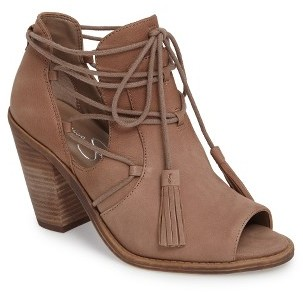 Women's Jessica Simpson Ceri Split Shaft Open Toe Bootie $118.95 thestylecure.com