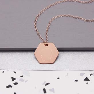 d184e222e4f577 Maria Allen Boutique Personalised Hexagon Portrait Necklace