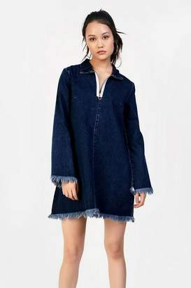 Glamorous **Denim Zip Front Dress