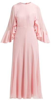 Giambattista Valli Cape Sleeve Silk Georgette Gown - Womens - Light Pink