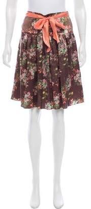 Paul & Joe Floral Silk Skirt