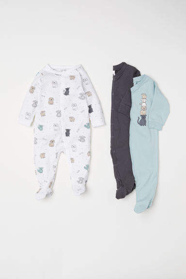 H&M - 3-pack Jumpsuits - Turquoise