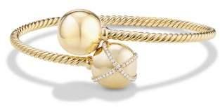 David Yurman Solari Bypass Bracelet With Diamonds In 18K Gold