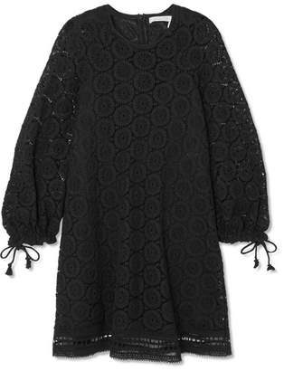 See by Chloe Corded Cotton-lace Mini Dress - Black