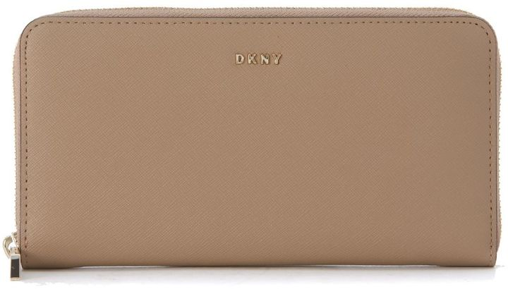 DKNYDkny Beige Natural Saffiano Leather Wallet