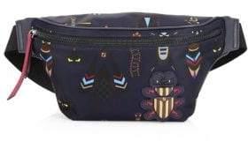 Fendi Embellished Nylon Belt Bag