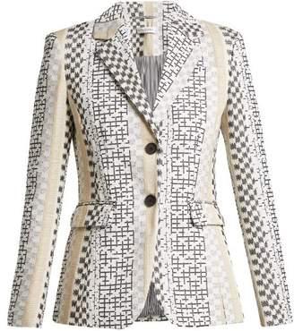 Altuzarra - Fenice Embroidered Single Breasted Blazer - Womens - Black Multi