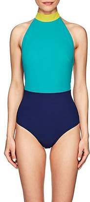 Flagpole Swim Women's May Colorblocked One-Piece Halter Swimsuit