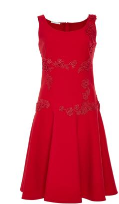Oscar de la Renta Scoop Neck Mini Dress $2,490 thestylecure.com