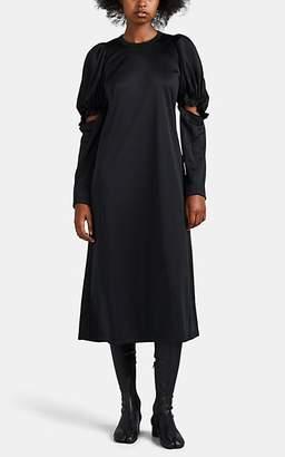 Comme des Garcons Women's Tech-Jersey Cutout-Sleeve Dress - Black