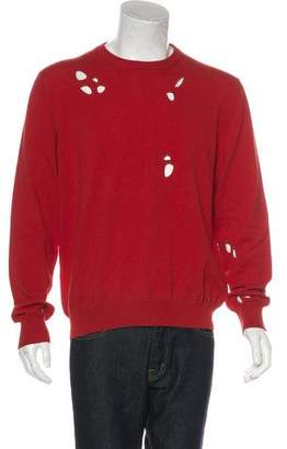 Christian Dior Cut-Out Wool & Cashmere Sweater