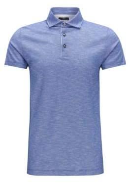 BOSS Hugo Italian Cotton Polo Shirt, Slim Fit T-Pryde XXL Open Blue
