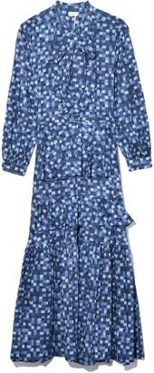 Oasis Warm Dress in Blue Check