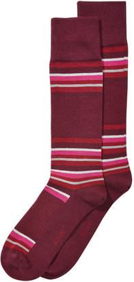 Alfani Men's Alfa Tech Blocked-Stripe Dress Socks, Created for Macy's
