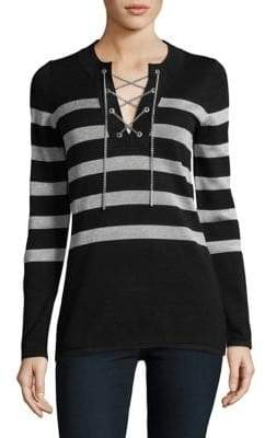 MICHAEL Michael Kors Laced-Chain Striped Tunic