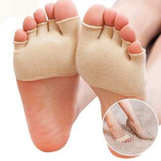 Generic Women's Breathable Half Toe Forefoot Socks