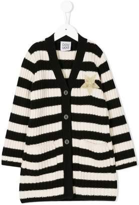 Douuod Kids striped knit coat