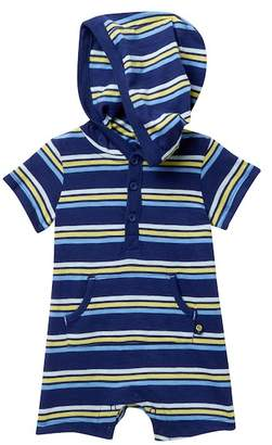Offspring Striped Hooded Romper (Baby Boys)