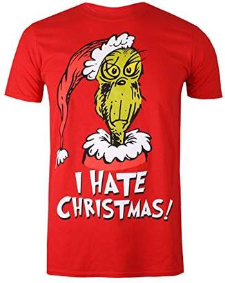 Dr. Seuss The Grinch Men's I Hate Xmas T-Shirt,Medium