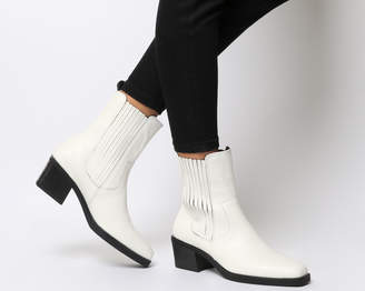 Vagabond Simone High Chelsea Boots White Leather
