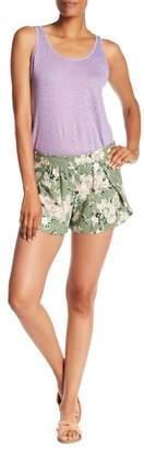 Angie Printed Tie Waist Tulip Hem Shorts
