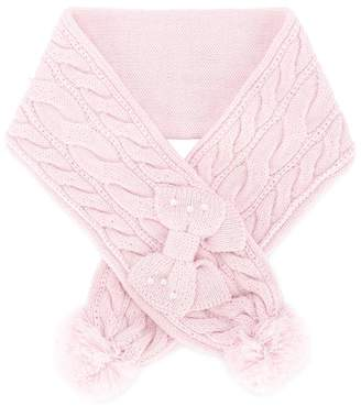 Mikihouse Miki House cable knit scarf