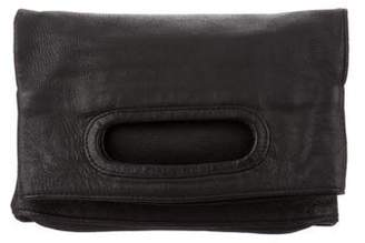 Helmut Lang Fold-Over Leather Clutch