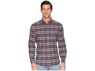 Polo Ralph Lauren Madras Ranger Military Roll Up Tab Long Sleeve Sport Shirt Men's Clothing