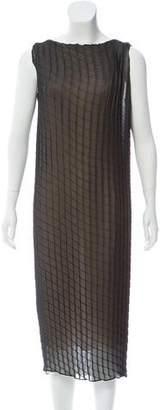 Calvin Klein Collection Silk Plissé Dress